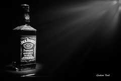 Jack Daniels (G Bond) Tags: light painting jack blackwhite bottle drink daniels