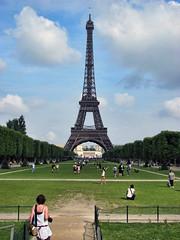 Eiffel Tower. (dckellyphoto) Tags: people woman paris france ledefrance group eiffeltower sunny eiffel champdemars 2010