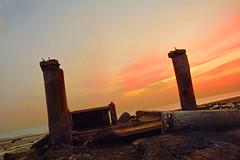 Sunrise (faisy5c) Tags: sea broken beautiful sunrise seaside nikon colours seascapes outdoor kuwait d7100 5ccha faisy5c nikonafs18105mmvr nikond7100