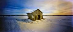 Barn at the plain Söderfjärden (Foide) Tags: winter sky snow barn pinhole nordic plain nolens f133