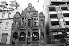 0D6A5908 - Lonworth Institute (Stephen Baldwin Photography) Tags: city urban blackandwhite monochrome architecture newcastle australia nsw streetscape