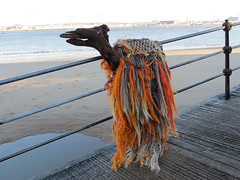 Camel on seafront at New Brighton IMG_4977 (rowchester) Tags: new sea sculpture beach river brighton rope camel mersey wirral