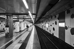 Yoyogi Koen Station (tk21hx) Tags: blackandwhite bw station japan underground subway tokyo foveon chiyodaline yoyogikoen dp0q sigmadp0quattro dp0quattro