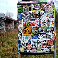 Amsterdam (PSYCO ZRCS 10/12) Tags: street art amsterdam graffiti sticker stickerart box propaganda stickers killer slap grilled tagging psyco bombing combo slaps wojo stickerculture stickerporn stickerlife