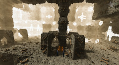 The Gateway (Mr Bultitude) Tags: fiction photoshop 3d flames surreal science torch fantasy scifi gateway futuristic dimensions cloaked the hooded mandelbulb