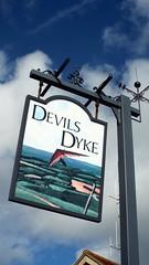 Devils Dyke Inn (bimbler2009) Tags: sky clouds artwork colourful devilsdyke fujifilms9900w