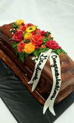 Graduation Cake (tasteoflovebakery) Tags: flowers cake graduation casket coffin congratulations congrats