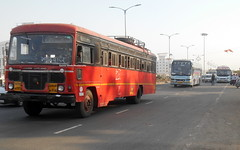 In One shot all Buses MSRTC ashok Leyland Neeta Volvo B9RGujarat Volvo B11R (gouravshinde94) Tags: msrtc bus ashokleyland neeta gujarat volvo b9r b11r pune