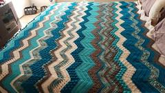 Yolanda Hawkins (The Crochet Crowd) Tags: game stitch right blanket afghan throw crochetblanket thecrochetcrowd stitchisright