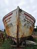 Étel - Ay 321006 (Drriss & Marrionn) Tags: travel france boats boat brittany ship outdoor ships bretagne shipwreck wreck drydock westerneurope boatrepair étel