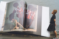 An Ode To Mr Tim Walker : The Story Teller (elliftheartist) Tags: selfportrait fashion outdoors book vogue storytelling fineartphotography timwalker britishvogue surrealphotography conceptualphotography giantbook giantobjects fashioncouture timwalkerinspired