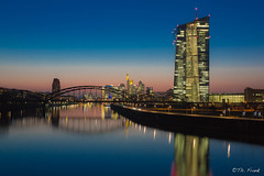 EZB & Skyline.jpg (Grandblog) Tags: skyline canon eos lowlight european frankfurt central bank 5d ef 1740 ezb