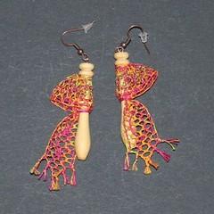 fuseaux (fabrikarine) Tags: fleur vintage collier bijoux plastic boucle fou cuivre doreille