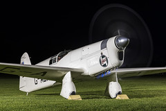 Percival E.2H Mew Gull - 9 (NickJ 1972) Tags: night shoot gull aviation nightshoot collection shuttleworth percival mew e2 2015 oldwarden gaexf