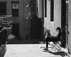 Enjoying the Warmth (Nora Kaszuba) Tags: streetphotography risd providencerhodeisland enjoyingthewarmth rhodeislandschoolofdesign norakaszuba