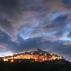 IL CIELO SOPRA OSTUNI (Aristide Mazzarella) Tags: sunset canon landscape landscapes tramonto sunsets tramonti bianca paesaggi salento puglia paesaggio citt apulia ostuni aristide mazzarella