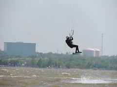 Kiteboarding (ptcruiser4dogs) Tags: lake surf wind nick flight surfing spray 405 watersports splash okc oklahomacity windsurfer lakehefner sailboard hefner atthelake kiteboarders woodypinewood windsurfingsurfingboarding