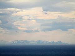 (SofiDofi) Tags: pink blue mountains nature norway outdoors norge scenery hiking horizon scenic hike april fjord lovely lofoten nordnorge beautifulday mountainrange lookingout iloveithere nordland flakstad nusfjord vestfjorden spring2016 ninemonthsupnorth ninemonthsinthenorth