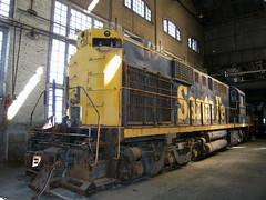 ATSF 9820 Sacramento Shops 9-22-05 (jsmatlak) Tags: railroad museum train engine sp shops locomotive sacramento atsf csrm