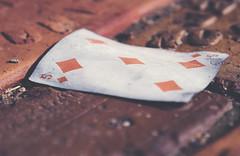 5 of diamonds (L. Paul) Tags: sony bricks mountpleasant iowa card playingcard 5ofdiamonds a6300 sonya6300
