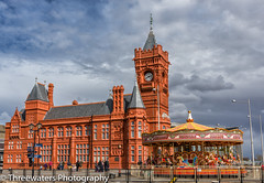 The Bay (Stevehughes1250) Tags: family red sun building tower skyline wales architecture clouds spring outdoor south cardiff cardiffbay cf pierhead lasiguanas benhughes samgoode pierheld