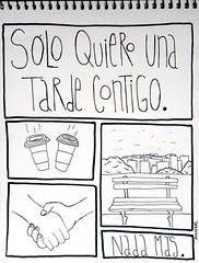 Solo quiero una tarde contigo (anysykes - any) Tags: love illustration drawing amor any draw coffe dibujo desing ilustracin melany acevedo anysykes