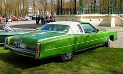 1974 CADILLAC Eldorado verte (xavnco2) Tags: france green classic cars car 1974 automobile vert cadillac eldorado autos amiens coupe picardie somme raduno rassemblement amercican lahotoie arpaa