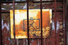 "Old ""photography forbidden"" sign , Jarocin depot 09.04.2016 (szogun000) Tags: door old railroad urban building sign canon wooden decay shed rusty poland polska rail railway depot roundhouse pkp wielkopolska jarocin wielkopolskie greaterpoland canoneos550d canonefs18135mmf3556is"