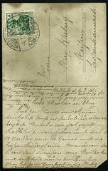 Archiv E101 Poststempel Miltitz Amt Meien vom 6. Juli 1910 (Hans-Michael Tappen) Tags: stamps 1910 postkarte briefmarke meisen poststempel miltitz archivhansmichaeltappen amtmeisen