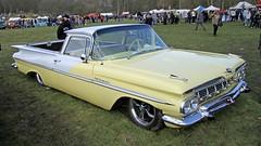 1959 Chevrolet El Camino (BIKEPILOT) Tags: classic chevrolet car yellow vintage automobile transport hampshire hotrod vehicle americana elcamino custom carshow 1959 aldershot 2016 wheelsday rushmoorarena surreystreetrodders