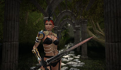 Fierce Warrior Mighty in Battle (Phasewind2) Tags: forest blood secondlife sword warrior pathway wintermoon