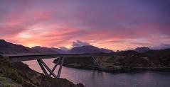 Kylesku Dawn (Captain Nikon) Tags: sunrise dawn scotland highlands panoramic naturalbeauty sutherland stitched grandtour kylesku kyleskubridge northwestscotland lochachirnbhin a894 nc500