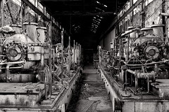 The Fleet (95wombat) Tags: old bw newyork abandoned monochrome industrial decay rusty decrepit ruined rotted contaminated