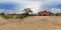 Humayun-Mausoleum in Delhi (jeglikerikkefisk) Tags: travel panorama india delhi tomb mausoleum indien reise 360 sphericalpanorama humayun grabmal equirectangular kugelpanorama sphrischespanorama
