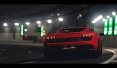 Gallardo (Thomas_982) Tags: city red italy cars night italian tunnel lamborghini gallardo gt6 granturismo ps3 gt5