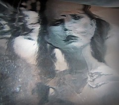 2016-04-26 soluble portrait (3) (april-mo) Tags: portrait reflection art monochrome experimental foil creative surreal blurred distortions flouartistique womanportrait experimentalart experimentaltechnique solubleportrait
