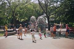 92590004 (kodak retina II c) Tags: chicago playground kids illinois day sprinkler