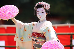 Trad Japan (Teruhide Tomori) Tags: portrait festival japan lady dance kyoto stage performance event maiko   kimono tradition japon       heianjingushrine