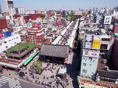 Asakusa (Ted Tsang) Tags: japan skyline landscape temple tokyo cityscape olympus   asakusa  kaminarimon observationdeck em1   taito  sensji    asakusaculturetouristinformationcenter  1240mmf28