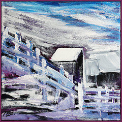 very cold today (Jocawe) Tags: blue white black painting square 50mm availablelight magenta canvas dpp acryl canoneos60d