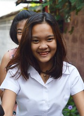 pretty girl with mouth jewelry (the foreign photographer - ) Tags: red girl portraits mouth thailand nikon pretty bangkok band jewelry motorcycle bang bua teenage khlong bangkhen d3200 mar122016nikon