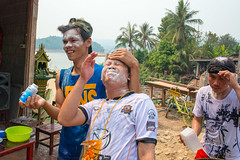 Water Festival in Central Laos (Jeff Williams 03) Tags: water festival guys pi mai laos lao pdr suncream