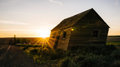 A Synopsis (John Westrock) Tags: road sunset house abandoned nature rural evening farm lensflare pacificnorthwest washingtonstate ritzville canoneos5dmarkiii sigma35mmf14dghsmart johnwestrock