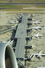 at London Heathrow airport (micmol ) Tags: uk england ny london tarmac vertical flying airport day outdoor heathrow aviation airplanes nobody terminal fromabove transportation lookingdown fromadistance lhr sunnyday staralliance usaengland usgb