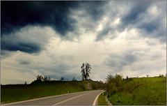 Moravia, Vysocina today at 4:24 PM before the rain (piontrhouseselski) Tags: tree rain clouds cross cz moravia vysocina velke mezirici