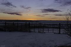 Christmas Eve Sunset (jldm_76) Tags: sunset sky snow clouds rural fence nikon farm kansas autofocus 350mmf18 d3100