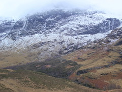 Low cloud base (Graham`s pics) Tags: travel terrain cloud mist mountain snow tourism ice rock fog landscape scotland cloudy hill glen valley glencoe ravine gorge mountainside gully westhighlands