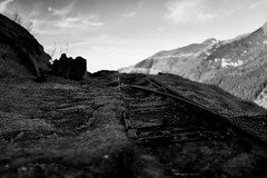 (Damien RSL) Tags: bw snow mountains zeiss 35mm sony 64 pyrnes gourette rx1