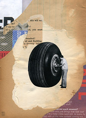 under pressure (argyle plaids) Tags: abstract man art wheel collage illustration graphicart analog vintage fix paper paperart airplane screw weird artwork arte recycled handmade antique abstractart contemporary modernart surrealism glue rip fineart ripped surreal tire rubber retro full compression repair montage collageart photomontage cutpaper torn dada surrealist aged analogue mechanic prop fill cutpaste compressed adjust cutandpaste jamesshort surrealart tighten yellowed cardstock handdone graphicartist handcut vintageart collageartist colaj bupbup tumblrart argyleplaids artistsontumblr artistontumblr jimmybupbup tumblrartist