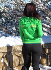 Easy to Find in the Snow (zoniedude1) Tags: winter arizona woman snow southwest nature girl beautiful beauty female outdoors colorful view snowy wildlife grandcanyon adventure human edge exploration discovery adaptation southrim snowcovered fascinating brightgreen homosapiens grandcanyonnationalpark brightlycolored winterplumage coldafternoon grandviewpoint gcnp highlyevolved outinthewild zoniedude1 easytofindinthesnow canonpowershotg12 pspx8 southrim2016 winterontheedge itsajokedammit